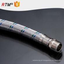 B17 mangueira de metal trançado de metal trançado flexível mangueira de gás trançado