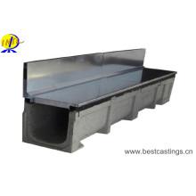 Slot latéral Canal linéaire de drainage en polymère de type U