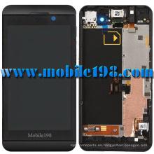 Pantalla táctil LCD y digitalizador con marco para Blackberry Z10