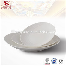 No melamine food cheap catering round pure white dinner plates