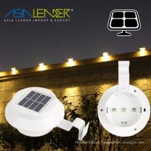 Al aire libre Solar Powered 3 Gutter luz LED cerca de la azotea Gutter Garden Yard Lámpara de pared