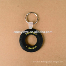 Individuelle Förderung Geschenk PVC Reifen Schlüsselanhänger