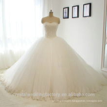 Elegant Alibaba White Sweetheart Ball Gown Heavy Beaded Lace wedding Dresses Bridal Gown vestidos de novia 2016 LWB02