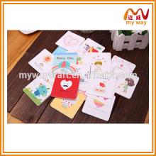 Produtos de fábrica por atacado de cartão artesanal feito à mão, mini cartão de aniversário