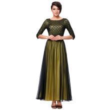 Kate Kasin 3/4 Sleeve Crew Neck Ball Gown Evening Prom Party Dress KK000214-1