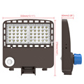 150 W Shoebox Area Light 400 W Equivalente a 21000 Lumens