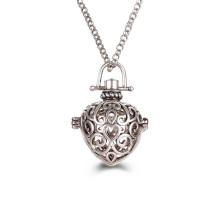 Herz Edelstahl Medaillon Anhänger Aromatherapie Diffusor Ätherisches Öl Halskette