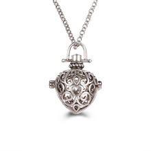 Heart Stainless Steel Locket Pendant Aromatherapy Diffuser Essential Oil Necklace