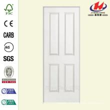 30 polegadas x 80 pol. Solidoor Liso 4-Painel Square Solid Core Primed Composto Single Prehung Porta Interior