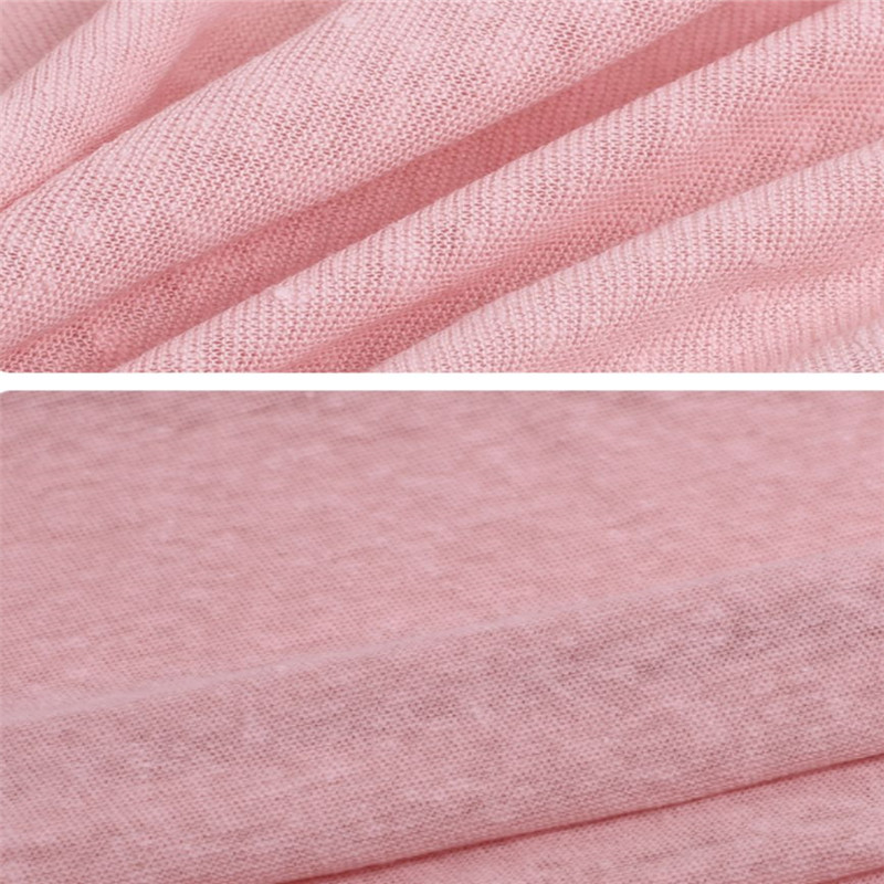 Breathable Knitted Coarse Jersey Linen Clothing Fabric (4)