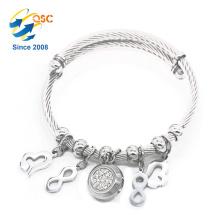 Luxe avec pendentif en acier inoxydable bracelet magnétique en acier inoxydable pour les femmes