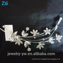 Hermosa flor de cristal nupcial peine peine joyería peinado peine peinados accesorios al por mayor china