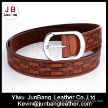 Newest Men′s PU Embossed Belt