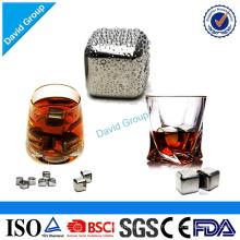 Sistema superior de encargo certificado de la piedra del whisky de la fuente al por mayor del proveedor de 4 pedazos con el logotipo modificado para requisitos particulares