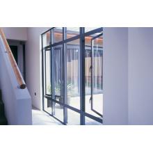 Grau Gross Oberfläche Doppelglas Aluminium Glas Fenster
