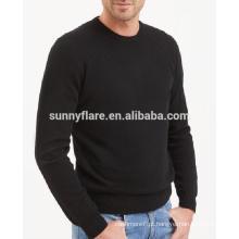 Camisola de cashmere ajustada para homem de malha de alta qualidade