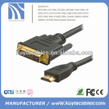 HIGH SPEED 24 + 1 DVI TO HDMI CABLE MALE TO MALE 15FT