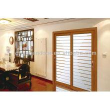 Porte coulissante en aluminium méditerranéenne, portes coulissantes en verre de design moderne