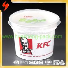 Сертификат FDA Лучшее качество KFC 420мл / 14oz одноразовые полипропиленовые контейнеры для пищевых продуктов