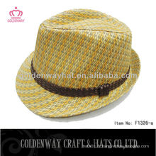 Grossiste taille standard pour adultes Papier Straw Fedora Hat