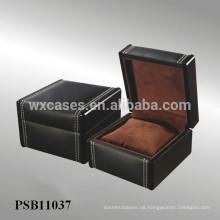 Leder Uhrenbox für einzelne Uhr aus China Fabrik