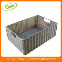 Cesta de vime de forma quadrada (RMB)