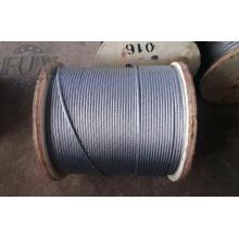 7 x 7 1 X 19 cuerda de alambre de acero inoxidable de alta calidad de 7 X 19