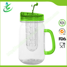 480ml Wholesale Mason Jar with Infuser and Handle (IB-A5)