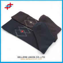 custom logo cotton calf compression black brown knee high stocking