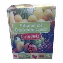 Cápsulas de multivitaminas y ciproheptadina