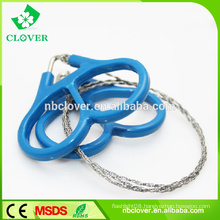 Outdoor survival stainless steel flexible wire saw,mini pocket chain saw for camping hunting