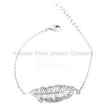 Moda jóias de prata 925, jóias de bronze, pulseira de corrente (KT3051)