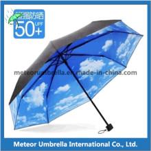 Parapluie télescopique pliable dans l'impression de logo personnalisé pour la promotion