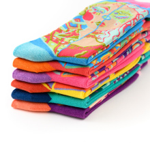 2019 happy Cartoon Crew Girls Tube Newborn Pattern Thick Wholesale Animal Cotton Socks