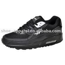 Black PU jogging sport Shoes