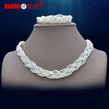 Мода Малый пресной воды жемчужиной ожерелье ювелирные наборы