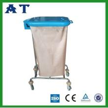 pedal controlled Single Bin Hospital waste trolley bins
