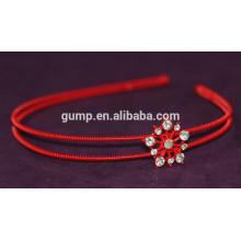 Koreanische Mädchen arbeiten Rhinestone-Kind-rotes Haar Bnd Kristallstirnband um