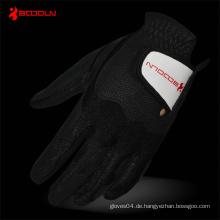 PU Golf Handschuh mit schwarzem Lycra für Unterhaltung (2481)