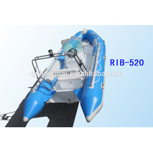 RIB520 borracha barco barco inflável rígido casco do barco com CE
