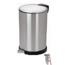 Lata de basura redonda de cierre suave con base alta - Cestos
