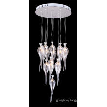 Modern Glass Chrome Metalware Ceiling Light (MD4152-16CL)