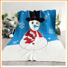 Hot Sales 100% Acrylic Christmas Snowman Knit Blanket