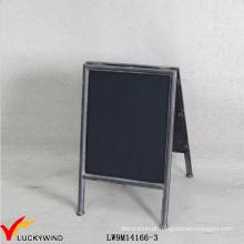 Portable um suporte Small Antique Metal Quadro Blackboard giz