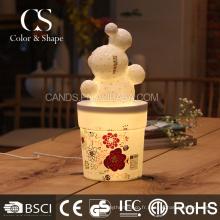Populaire fleur forme lampe de table art en céramique lampe de bureau