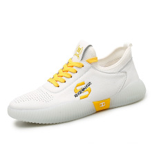 2021 new arrivals white sneakers all match breathable trendy men's sports casual shoes jelly sole fashionable