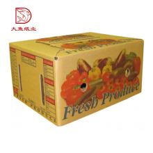 Boa qualidade atacado barato vegetal melhor caixa de papelão ondulado