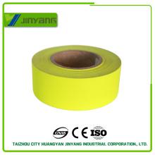 Amarillo de alta visibilidad reflectante poliéster