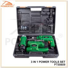 Juego de herramientas eléctricas Powertec 3 en 1