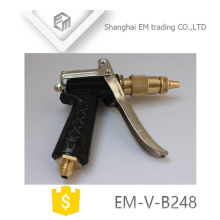 EM-V-B248 Adjustable Brass Garden Hose Nozzle High Pressure Metal Water Spray Gun For Wash Car And Garden